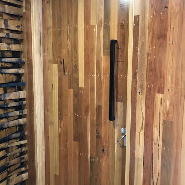 Timber entry door clear coat