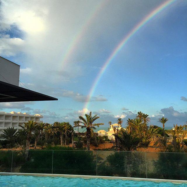 #doublerainbow #rainbow #spa #lesescapades