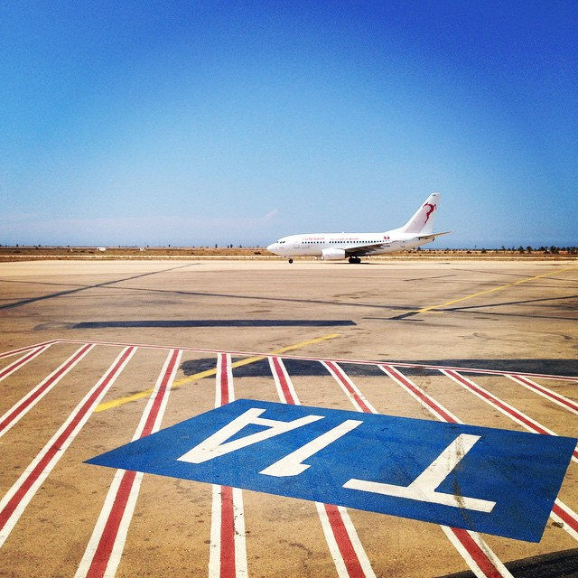 #plane #tarmac #lovetravels #airport #djerba #tunisiemoijyvais