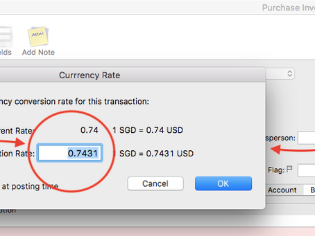 Specify the currency conversion rate (Exchange Rate)