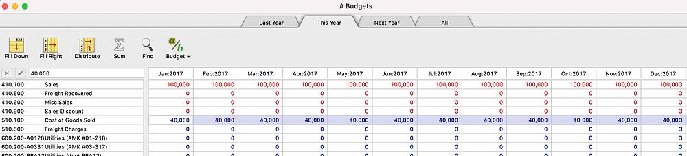 MoneyWorks Budget