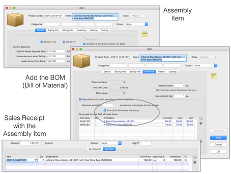 Use an assembly item to bundle products