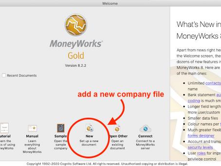 Start a MoneyWorks trial