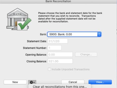 Undo Bank Reconciliation