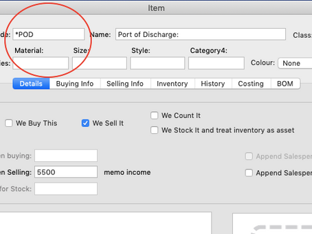 How to add a memo line in Sales Invoice?