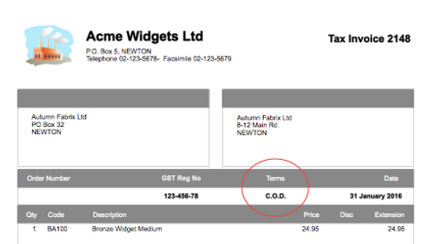 how to word payment terms on invoices
