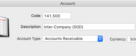 Shall I set up the inter-company receivable as an account receivable type?
