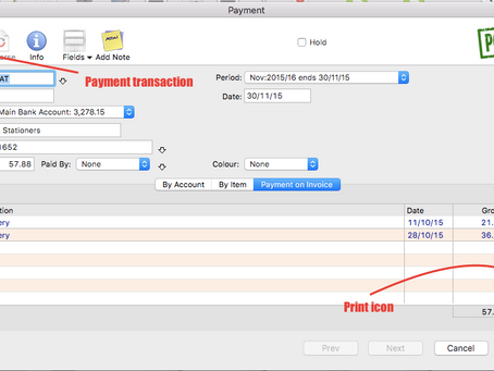 How to print a payment voucher from MoneyWorks accounting software?