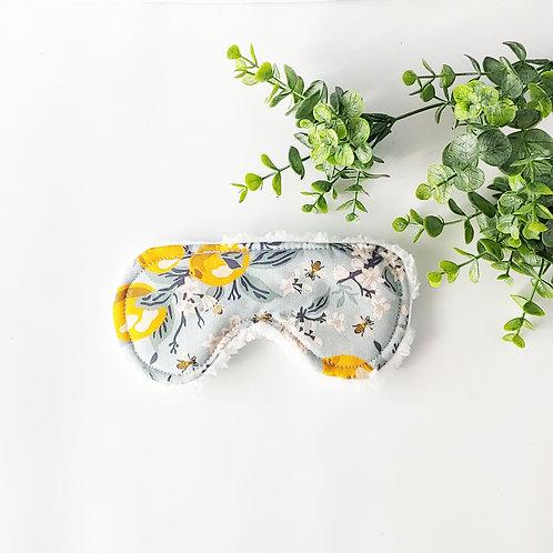 Lemon and Bees Floral Sleep Mask