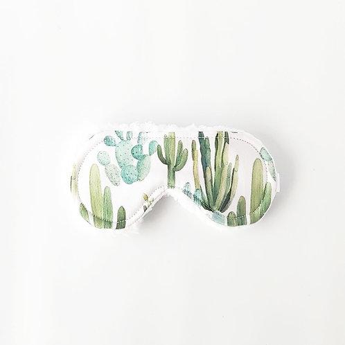 Watercolor Cactus Sleep Mask