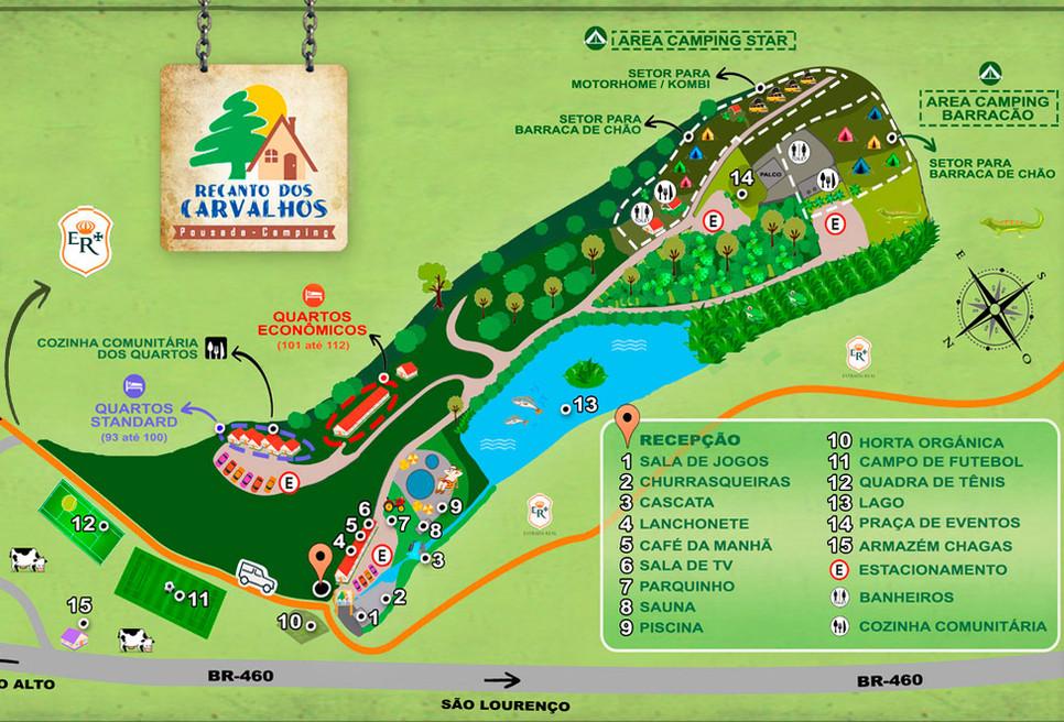 Mapa Ilustrativo do Recanto dos Carvalhos