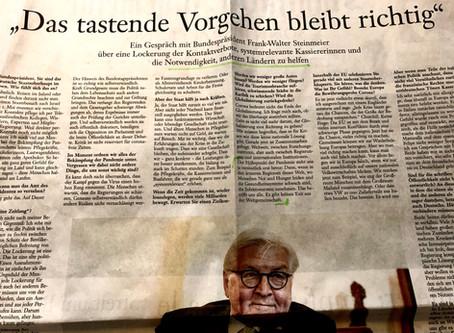 Président d´Allemagne Steinmeier: Pas d'issue pour la communauté mondiale dans la crise de Corona
