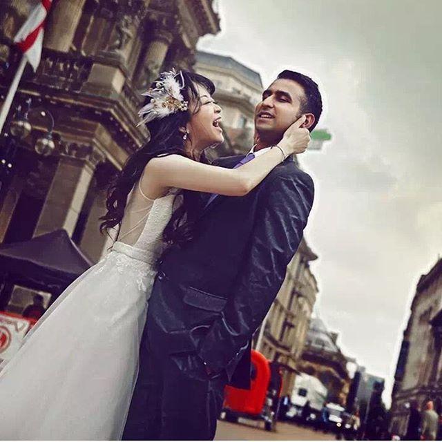 Victoria square wedding photo shoot#midlands #bridalhair #bridalmakeup #accessories #bridal #新娘造型師 #