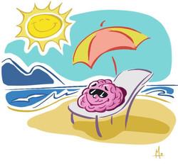 brain on beach