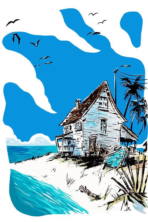 Hampton's vertical print