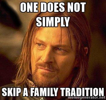 family tradition meme