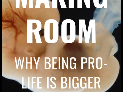 Making Room: Why Being Pro-Life is Bigger Than Politics