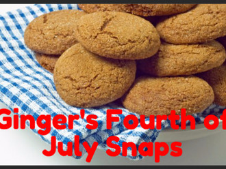 Recipe of the Month :: Ginger's Fourth of July Snaps