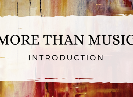 More Than Music - Introduction