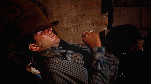 Dean Martin laying down while singing My Rifle, My Pony, and Me in the movie Rio Bravo