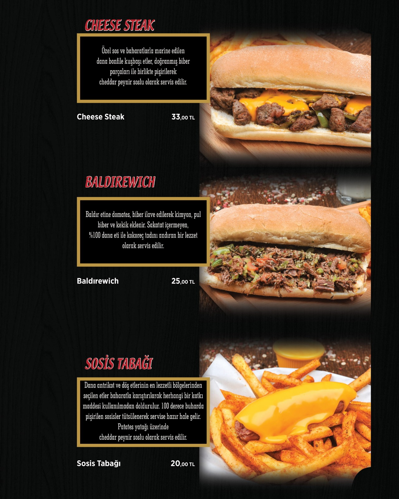 Cheese Steak Baldırewich Sosis