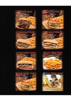 Baldir Burger Menü