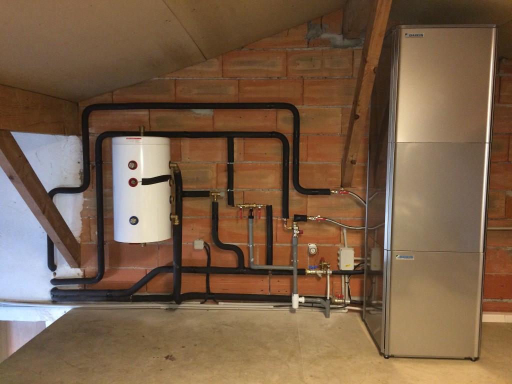 Installation complète d'une pompe à chaleur haute température