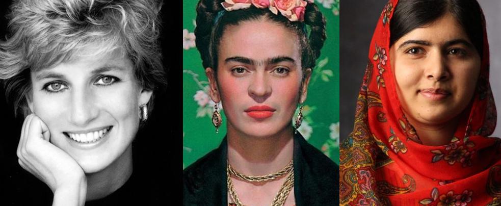 Lady Di, Frida Khalo e Malala
