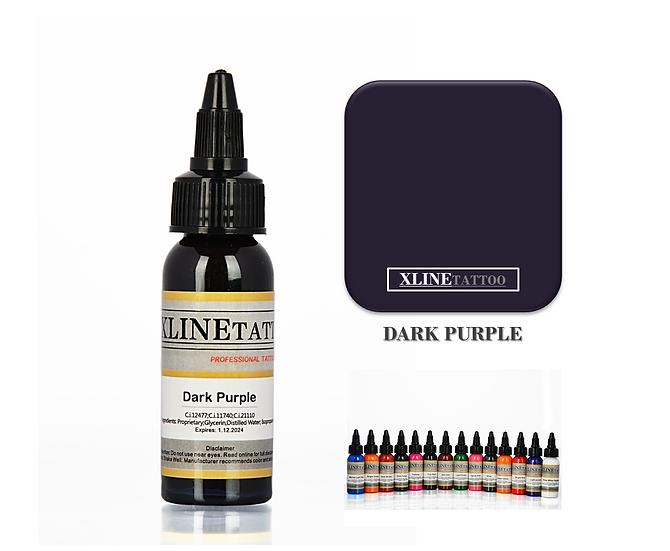 1 Oz Xlinetattoo Dark Purple Dövme Boyası - 30ml Koyu Mor Dövme Mürekkebi