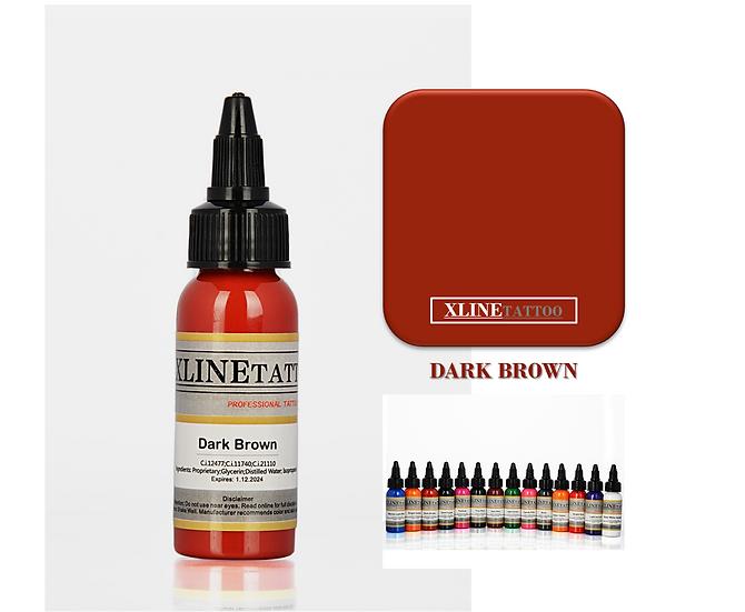1 Oz Xlinetattoo Brown Dövme Boyası - 30ml Kahverengi Dövme Mürekkebi