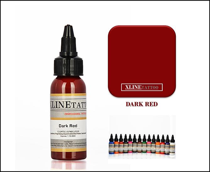 1 Oz Xlinetattoo Dark Red Dövme Boyası - 30ml Koyu Kırmızı Dövme Mürekkebi