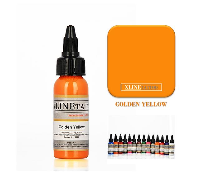 1 Oz Xlinetattoo Golden Yellow Dövme Boyası - 30ml Sarı Dövme Mürekkebi