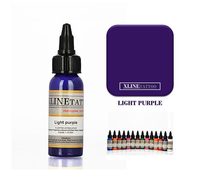 1 Oz Xlinetattoo Light Purple Dövme Boyası - 30ml Mor Dövme Mürekkebi
