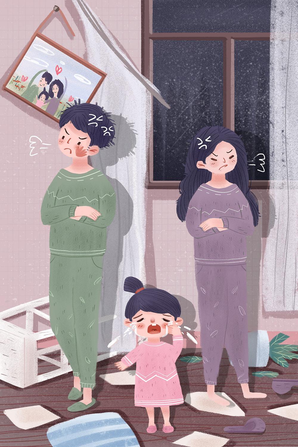 —Pngtree—family couple child quarrel_4118258