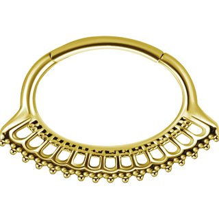 Gold Oval Clicker #10