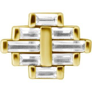 Gold Marquise Aufsatz 35Swarovski®