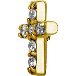 Gold Kreuz Aufsatz 06 Swarovski®