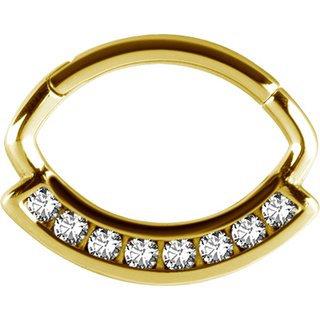Gold Jew. Oval Clicker Swarovski®