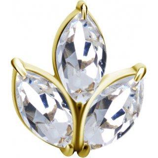 Gold Marquise Aufsatz 13LSwarovski®