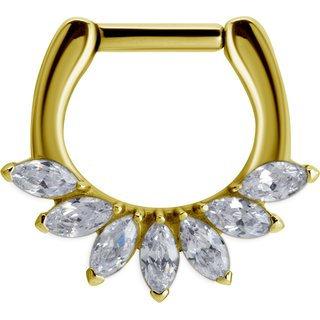 Gold Cubic Marquise Swarovski®