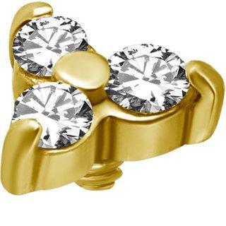 Gold Aufsatz 01 Swarovski®