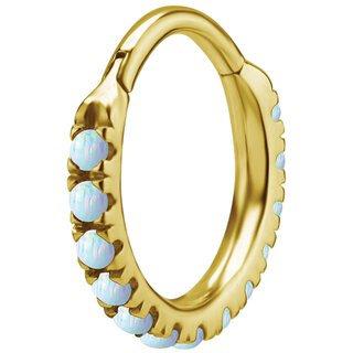 Gold Stahl Prong Opal Clicker