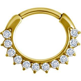 Gold Jew. Oval Clicker 8 - 12 Swarovski®
