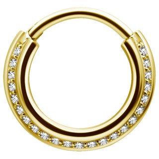 Gold Triple Clicker Swarovski®