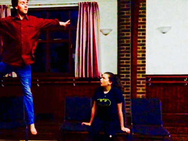 Peter & Wendy in rehearsals