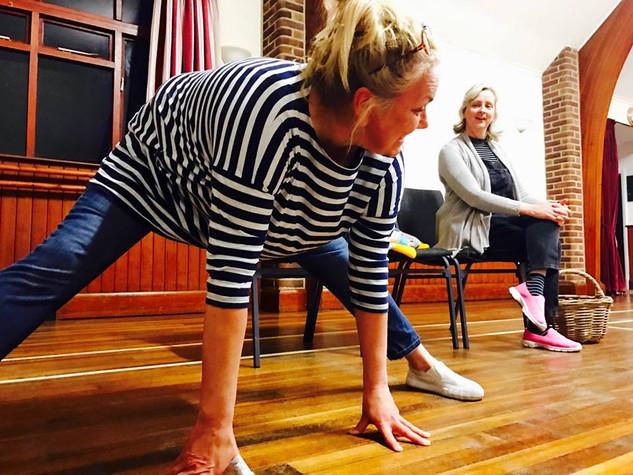 Mid rehearsal yoga...?