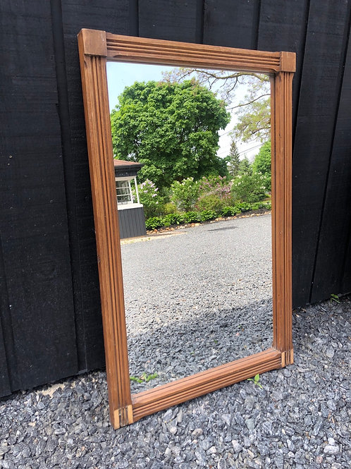 "Antique mirror with wooden frame 21""x33"""