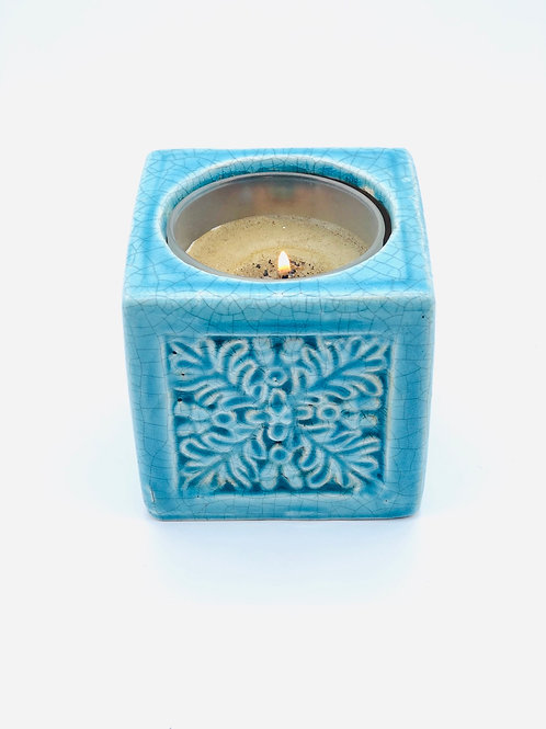 Snowflake candle holder or plant pot