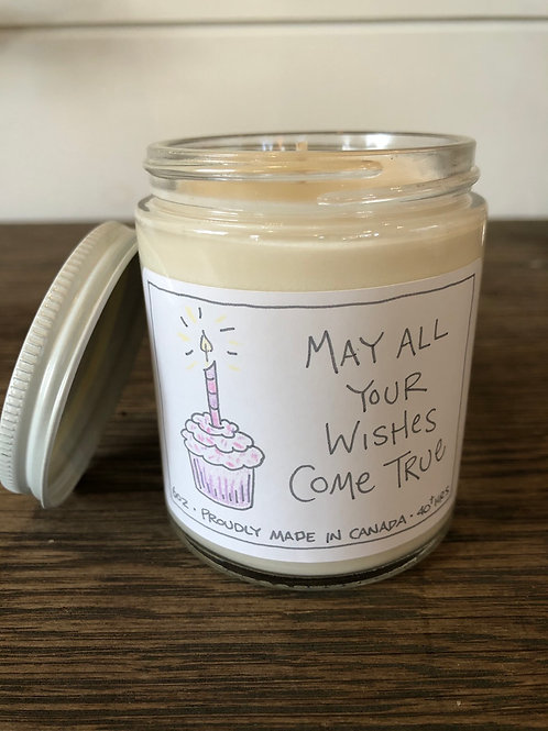 May all your wishes come true Pure Soy Candle