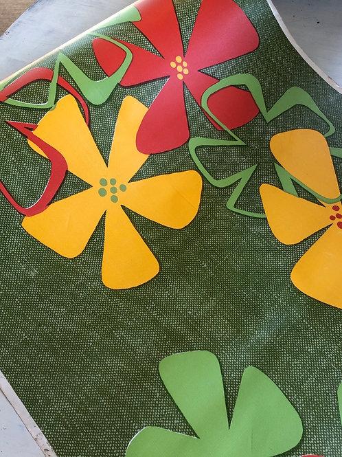 MACTAC Vintage HUGE roll of floral MACTAC